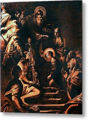 The Virgin Entering The Temple Metal Print by Dino Muradian
