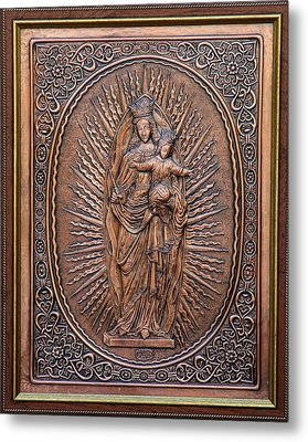 The Virgin Mary With Jesus Christ Metal Print by Netka Dimoska