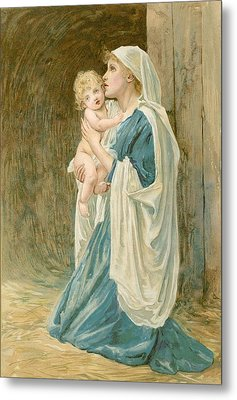 The Virgin Mary With Jesus Metal Print by John Lawson
