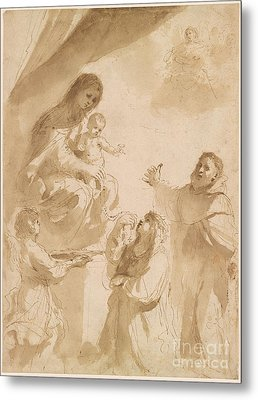 The Virgin Of The Rosary Metal Print by MotionAge Designs