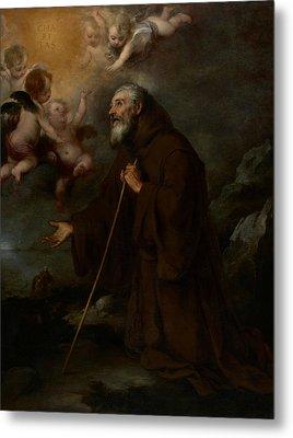 The Vision Of Saint Francis Of Paola Metal Print by Bartolome Esteban Murillo