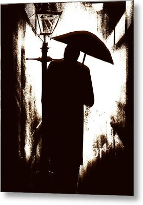 Metal Print featuring the digital art The Visitor  by Fine Art By Andrew David