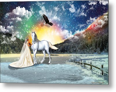 The Waiting Bride Metal Print by Dolores Develde
