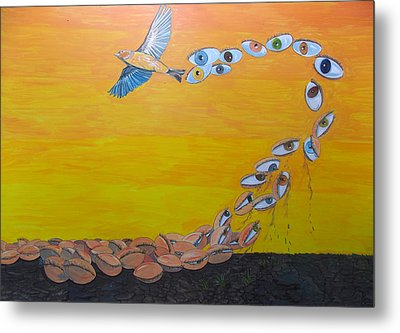 The Waking Of Sights Metal Print