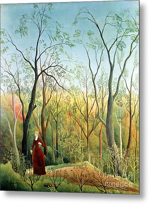 The Walk In The Forest Metal Print by Henri Rousseau