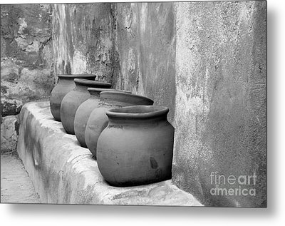 The Wall Of Pots Metal Print by Sandra Bronstein