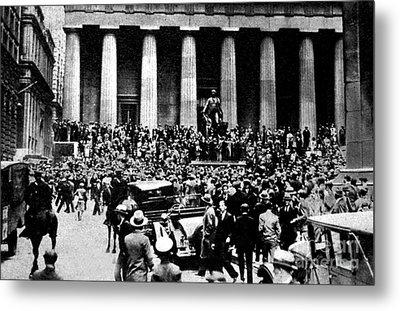 The Wall Street Crash 1929 Metal Print by American School