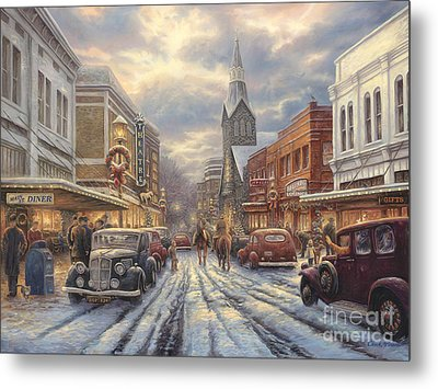 The Warmth Of Small Town Living Metal Print by Chuck Pinson