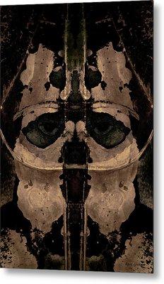 The Warrior Toned Metal Print by David Gordon