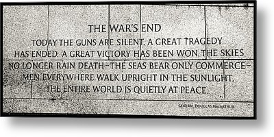 The War's End....... Metal Print by Allen Beatty