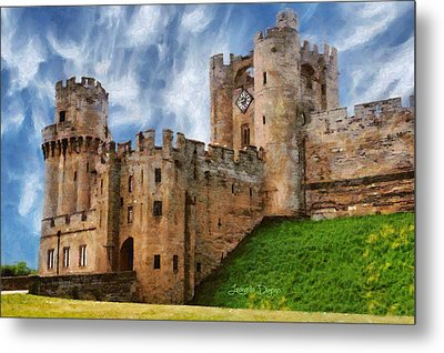 The Warwick Castle - Da Metal Print by Leonardo Digenio