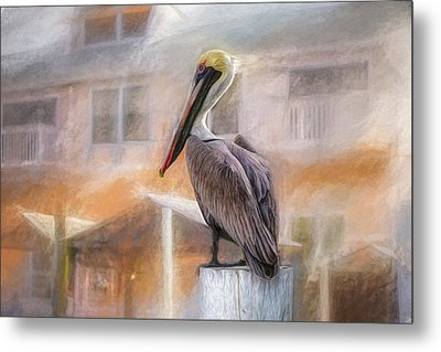 Metal Print featuring the mixed media The Watcher by Joel Witmeyer