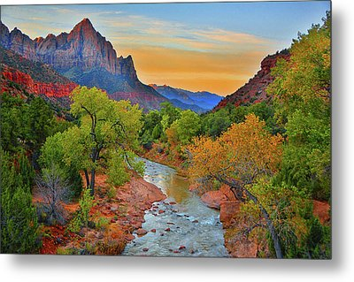 The Watchman And The Virgin River Metal Print