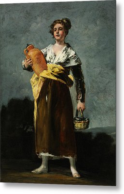 The Water Carrier  Metal Print by Francisco Goya