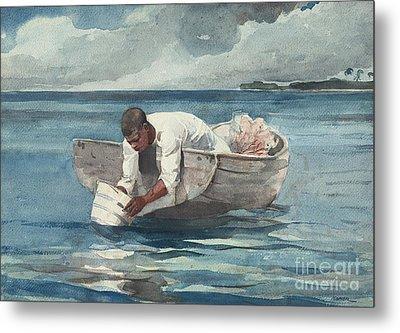 The Water Fan Metal Print by Winslow Homer