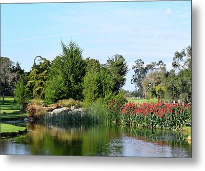 Metal Print featuring the photograph The Water On Number One Santa Maria Country Club by Barbara Snyder