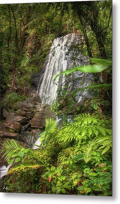 Metal Print featuring the photograph The Waterfall by Hanny Heim