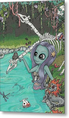 The Watering Hole Metal Print by Shaz Justice