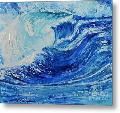 Metal Print featuring the painting The Wave by Teresa Wegrzyn
