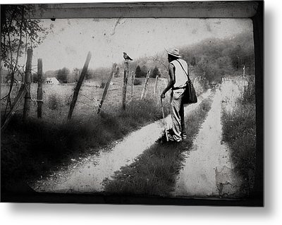 The Way Of The Crow Metal Print by Gray  Artus