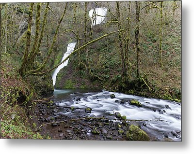 The Way To A Waterfall Metal Print by Jeff Swan