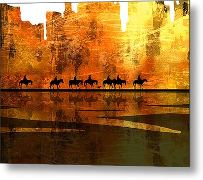 The Weary Journey Metal Print