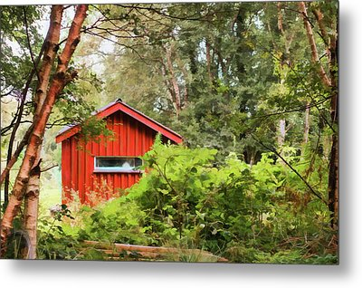 The Wee Red Shed Metal Print