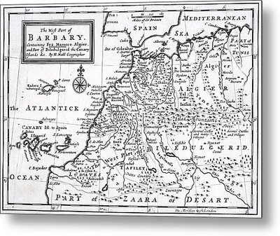 The West Part Of Barbary Containing Fez Metal Print
