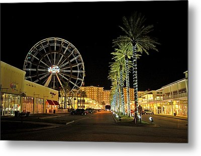 The Wharf At Night  Metal Print by Michael Thomas