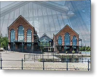 The Wharf Cardiff Bay Metal Print by Steve Purnell