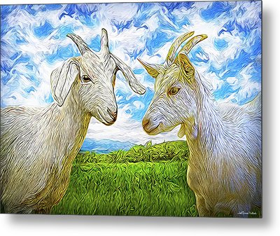 The Whispers Of Goats Metal Print by Joel Bruce Wallach