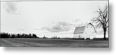 Metal Print featuring the photograph The White Barn by Rebecca Cozart