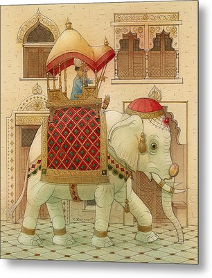 The White Elephant 01 Metal Print by Kestutis Kasparavicius