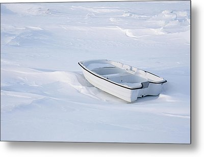 The White Fishing Boat Metal Print by Nick Mares