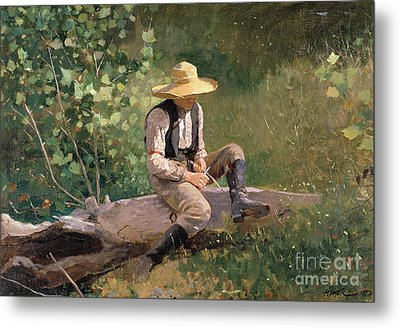 The Whittling Boy Metal Print by Winslow Homer