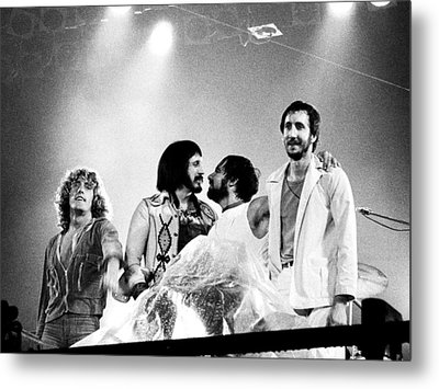 The Who 1976 Metal Print by Chris Walter