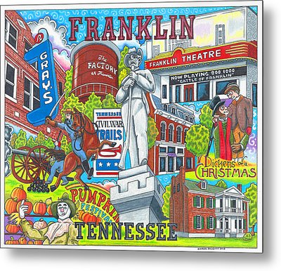 The Who, What And Where Of Franklin, Tennessee Metal Print