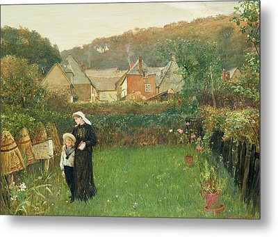 The Widow Metal Print by Charles Napier Hemy