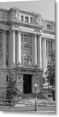 Metal Print featuring the photograph The Wilson Building In Black And White by Greg Mimbs