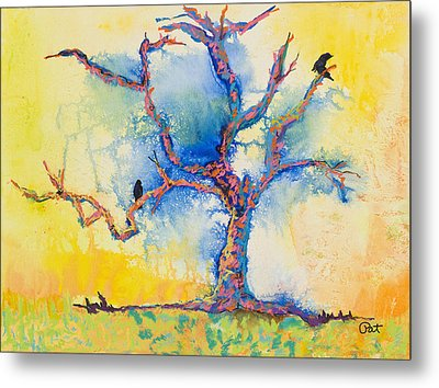 The Wind Riders Metal Print by Pat Saunders-White