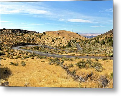 The Winding Road In Central Oregon Metal Print