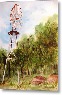 The Windmill  Metal Print by Vicki  Housel