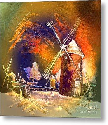 The Windmills Del Quixote 01 Metal Print