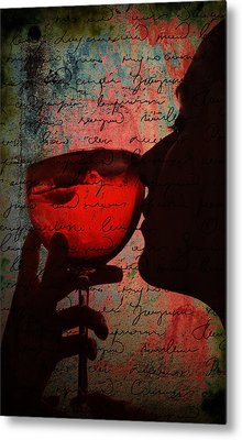 The Wine Diaries Metal Print