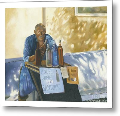 Metal Print featuring the painting The Wineseller by Marlene Book
