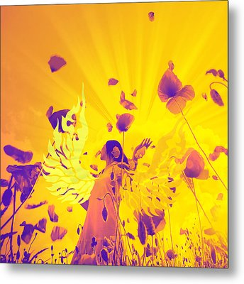 The Winged Lady Metal Print by Tommytechno Sweden