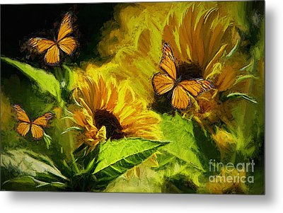 The Wings Of Transformation Metal Print by Tina  LeCour