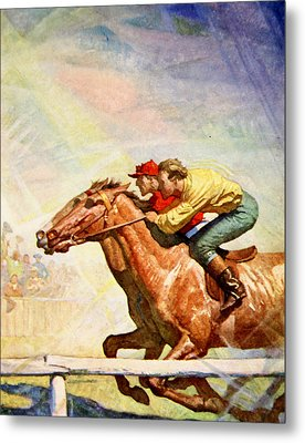 The Winning Post Metal Print by Newell Convers Wyeth