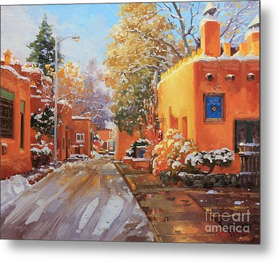 The Winter Beauty Of Santa Fe Metal Print