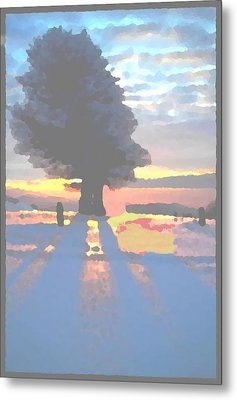 The Winter Lonely Tree Metal Print